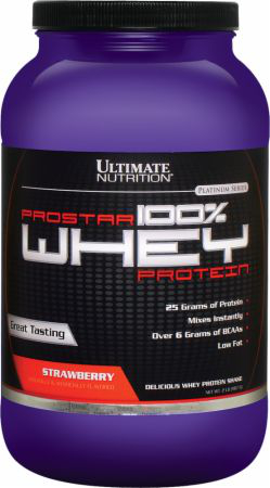 Ultimate Nutrition Prostar 100% Whey Protein - 2lbs Raspberry