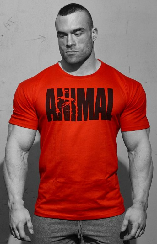 Universal Clothing & Gear Animal Iconic T-Shirt - Red Medium