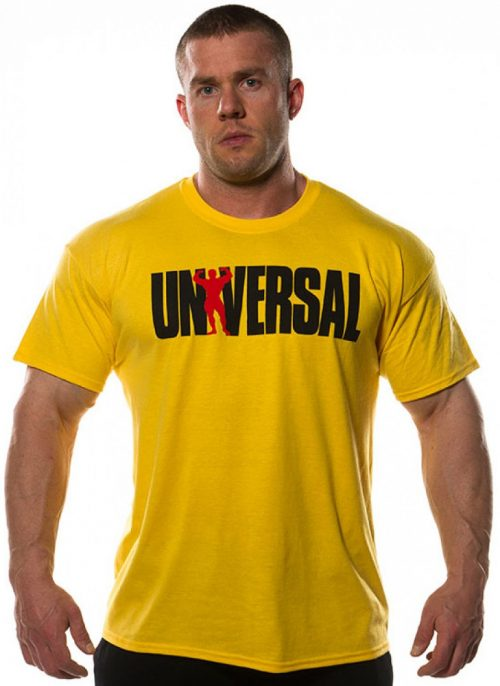 Universal Clothing & Gear Logo T-Shirt Yellow - Yellow Large