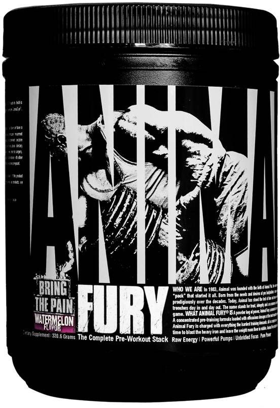 Universal Nutrition Animal Fury - 20 Servings Watermelon