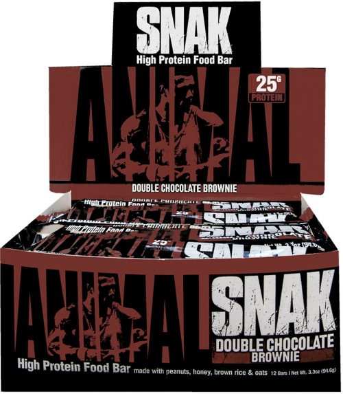Universal Nutrition Animal Snak Bars - Box of 12 Double Chocolate Brow