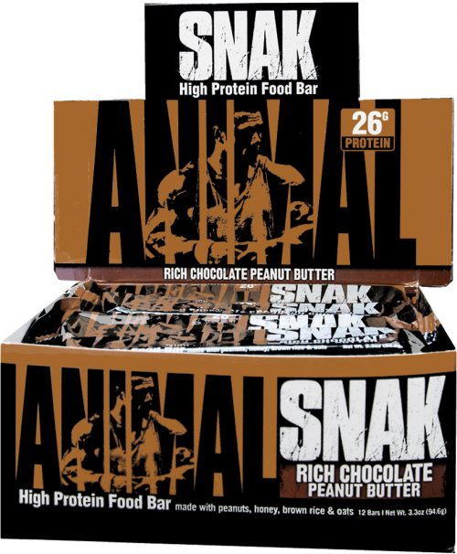 Universal Nutrition Animal Snak Bars - Box of 12 Rich Chocolate Peanut