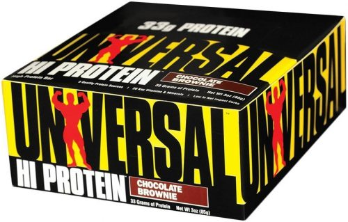 Universal Nutrition Hi Protein Bars - Box of 16 Chocolate Brownie