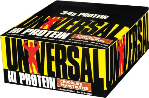 Universal Nutrition Hi Protein Bars - Box of 16 Chocolate Peanut Butte