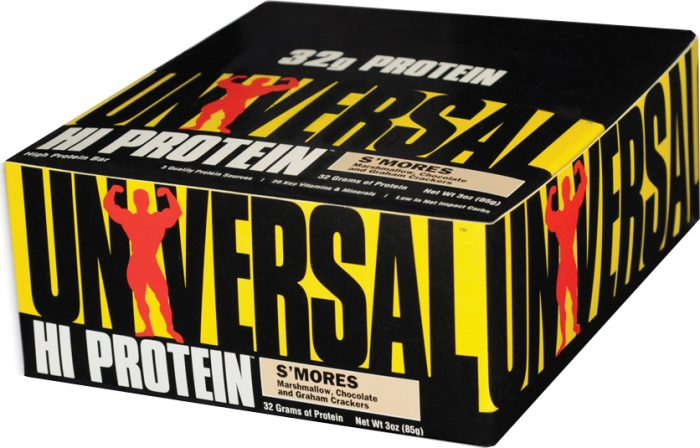 Universal Nutrition Hi Protein Bars - Box of 16 S'mores
