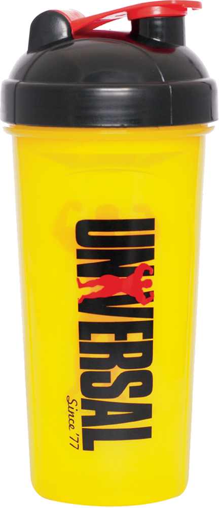 Universal Nutrition Universal Shaker Cup - 25oz Yellow/Black