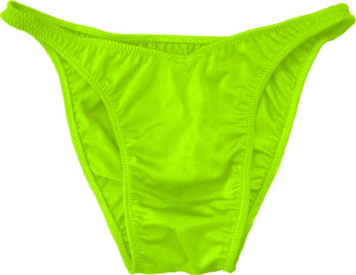 Vandella Costumes Flex Cut Spandex Posing Suit - Neon Green Large