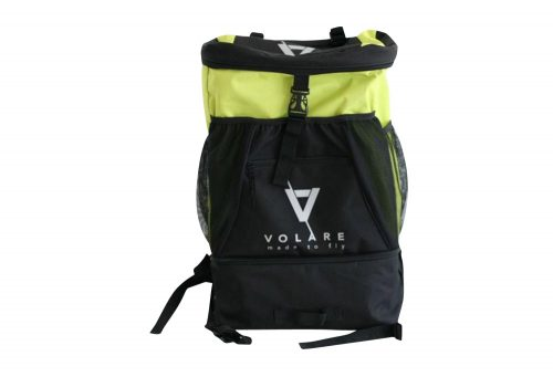 Volare Triathlon Transition Bag w/Bonus Race Belt - black/yellow, one size