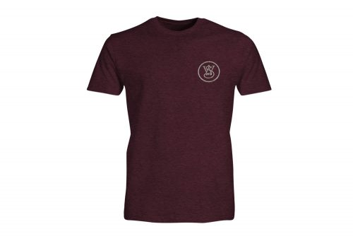 Wilder & Sons Born Free Short Sleeve Tee - Men's - burgundy heather, small