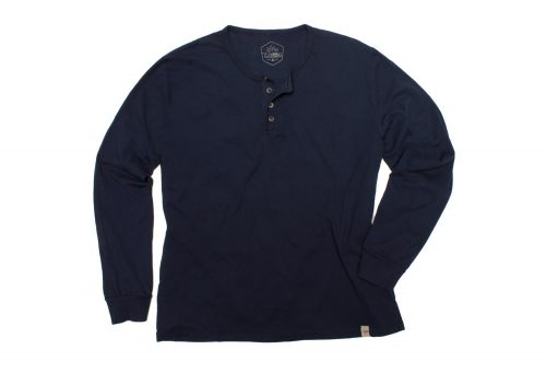 Wilder & Sons Classic Henley Long Sleeve Shirt - Men's - navy, small
