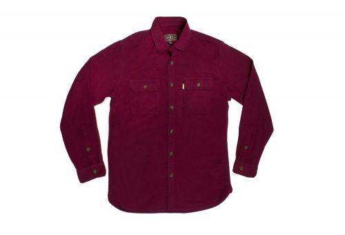 Wilder & Sons Gorge Chamois Shirt - Men's - burgundy/burgundy, large
