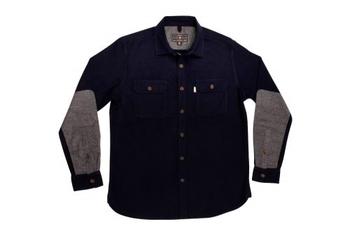 Wilder & Sons Gorge Chamois Shirt - Men's - navy / grey, medium