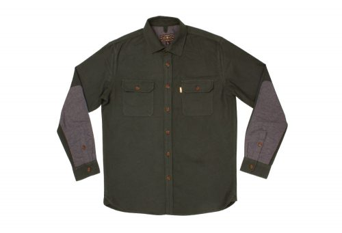 Wilder & Sons Gorge Chamois Shirt - Men's - pine/grey, small