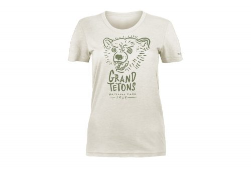 Wilder & Sons Grand Teton National Park Tee - Women's - vintage white, xsmall