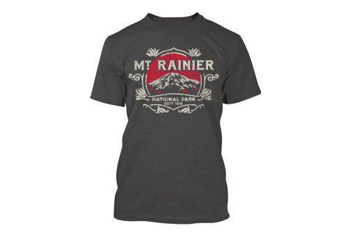 Wilder & Sons Mount Rainier National Park Short Sleeve T-Shirt - Men's - charcoal grey, small