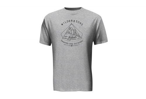 Wilder & Sons Onward & Outward T-Shirt - Men's - black/athletic heather, x-large