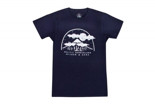Wilder & Sons Pacific Wonderland Mountains Tee - Men's - navy, small