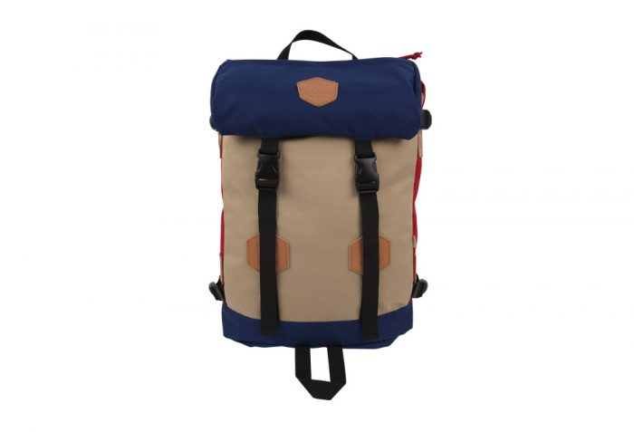 Wilder & Sons Rucksack - navy/red/sand, one size