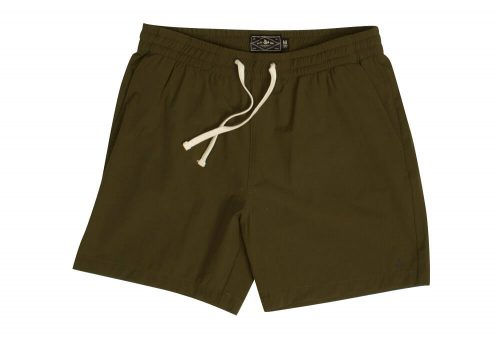 "Wilder & Sons Seaside Volley 6"" Shorts - Men's - dark olive, large"