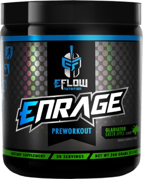 eFlow Nutrition ENRAGE - 30 Servings Gladiator Green Apple