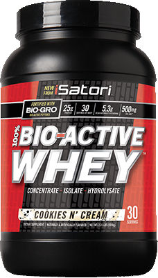 iSatori 100% Bio-Active Whey - 2.33lbs Cookies N Cream