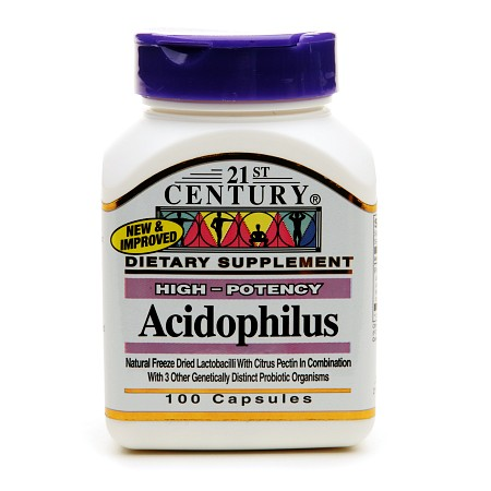 21st Century Acidophilus, High-Potency - 100 capsules