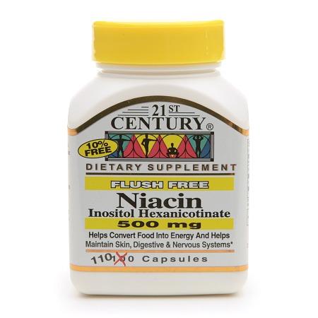 21st Century Flush Free Niacin 500mg - 110 capsules