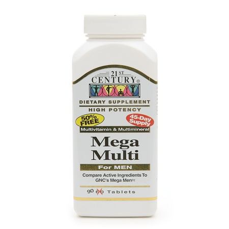 21st Century Mega Multi for Men, Multivitamin & Multimineral - 90 tablets
