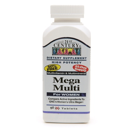 21st Century Mega Multi for Women, Multivitamin & Multimineral - 90 ea