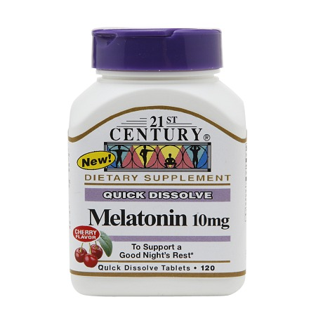 21st Century Quick Dissolve Melatonin 10mg, Tablets Cherry - 120 tabs