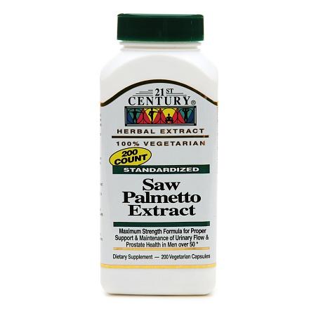 21st Century Saw Palmetto Extract - 200 vegetarian capsules