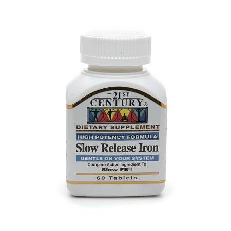 21st Century Slow Release Iron, Tablets - 60 ea