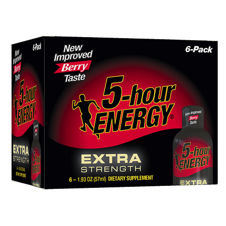 5-Hour Energy Extra Strength Dietary Supplement Shot Berry - 1.93 oz.