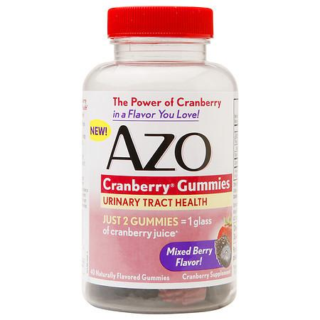 AZO Cranberry Gummies Urinary Tract Health Mixed Berry - 40 ea