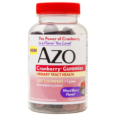 AZO Cranberry Gummies Urinary Tract Health Mixed Berry - 72 ea