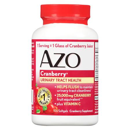AZO Cranberry Urinary Tract Health Dietary Supplement Softgels - 100 ea