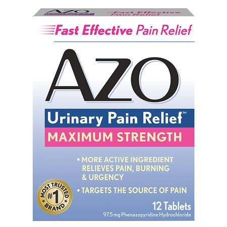 AZO Maximum Strength Urinary Pain Relief Tablets - 12 ea
