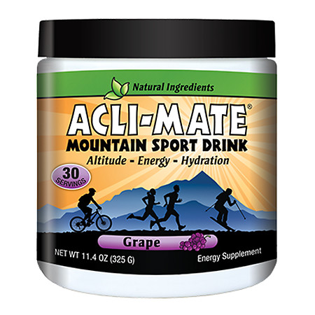 Acli-Mate Mountain Sport Drink Altitude & Energy Aid Grape - 13.8 oz.