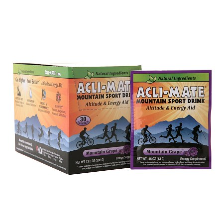 Acli-Mate Mountain Sport Drink Altitude & Energy Aid Packets Mountain Grape - 0.46 oz.