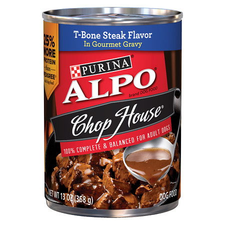 Alpo Chop House Dog Food T-Bone Steak - 13 oz.