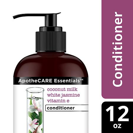 ApotheCARE Essentials Damaged Hair Repair Conditioner Coconut Milk, White Jasmine, Vitamin E - 12 oz.