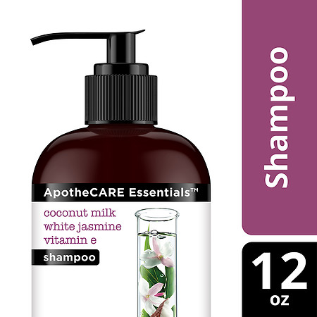 ApotheCARE Essentials Damaged Hair Repair Shampoo Coconut Milk, White Jasmine, Vitamin E - 12 oz.
