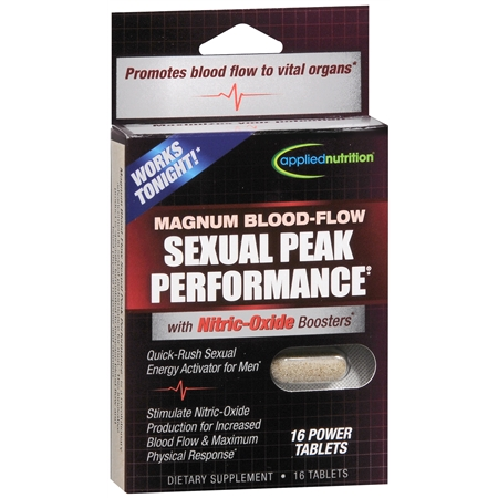 Applied Nutrition Magnum Blood-Flow Sexual Peak Performance Dietary Supplement Tablets - 16 ea.