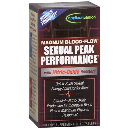 Applied Nutrition Magnum Blood-Flow Sexual Peak Performance Dietary Supplement Tablets - 40 ea