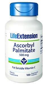Ascorbyl Palmitate, 500 mg, 100 vegetarian capsules