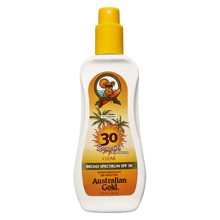 Australian Gold Clear Spray Gel, SPF 30 - 8 fl oz