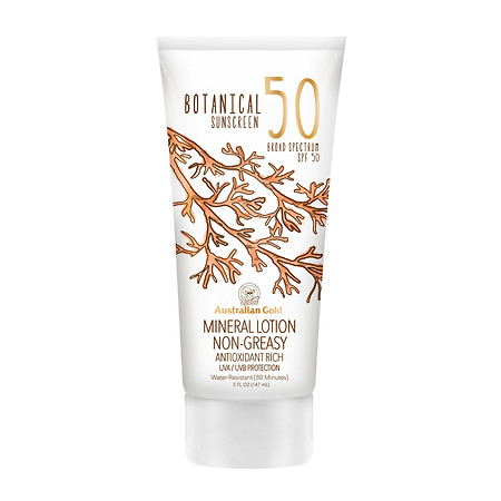 Australian Gold Mineral Lotion Botanical Sunscreen SPF 50 - 5 oz.