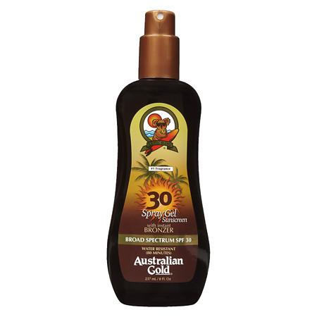 Australian Gold Spray Gel with Instant Bronzer, SPF 30 - 8 fl oz