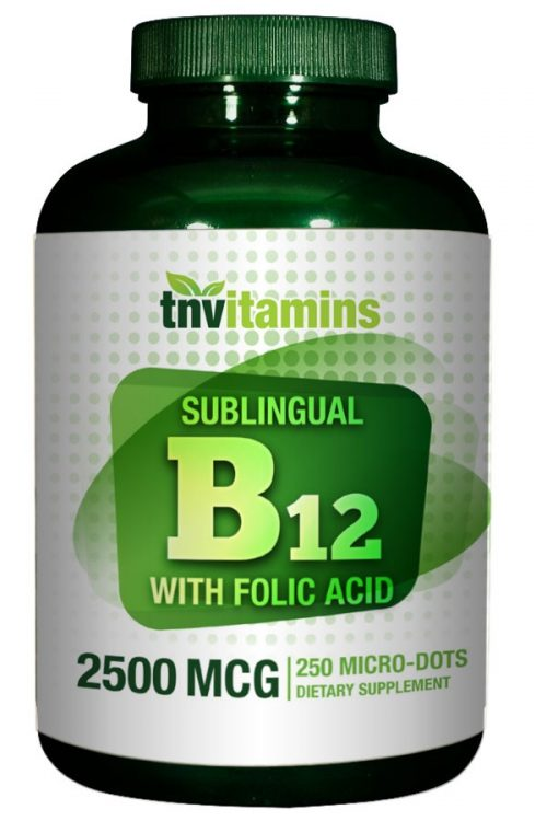 B 12 Sublingual 2500 Mcg With Folic Acid 400 Mcg