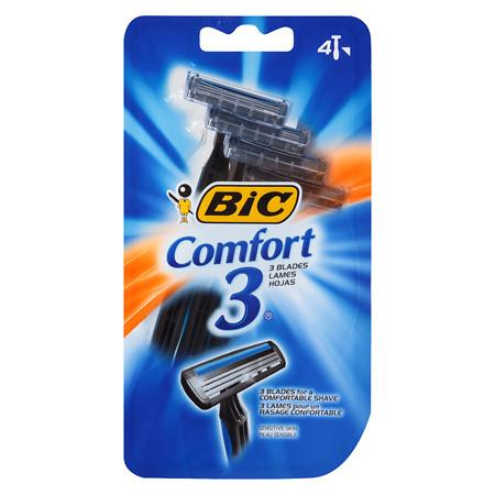 BIC Comfort 3 Sensitive for Men, Disposable Shaver - 4 ea